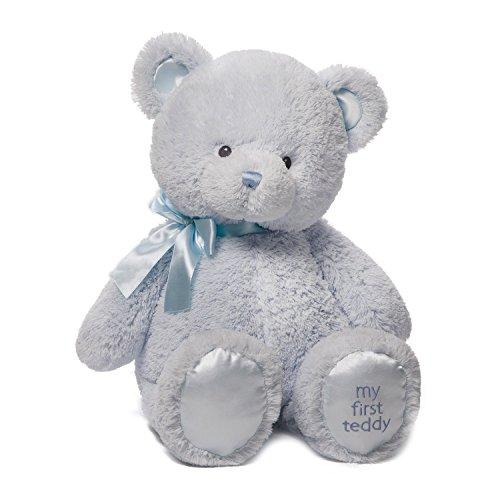 ガンド ぬいぐるみ リアル お世話 かわいい 【送料無料】Baby GUND My First Teddy Bear Stuffed Animal Plush, Blue, 24