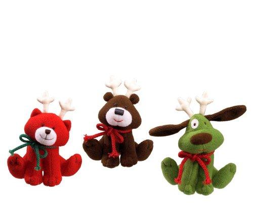 ガンド ぬいぐるみ リアル お世話 かわいい Gund Animal Chatter Christmas Critters with Sound, Set of 3ガンド ぬいぐるみ リアル お世話 かわいい