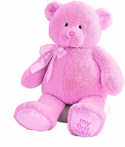 無料ラッピングでプレゼントや贈り物にも。逆輸入・並行輸入多数 ガンド ぬいぐるみ リアル お世話 かわいい Gund Baby My First Teddy-Jumbo-Pinkガンド ぬいぐるみ リアル お世話 かわいい