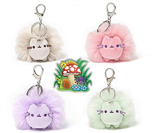 ガンド ぬいぐるみ リアル お世話 かわいい 【送料無料】GUND Pusheen The Cat 4 Poof Balls, Keychain/Backpack Clip, 4