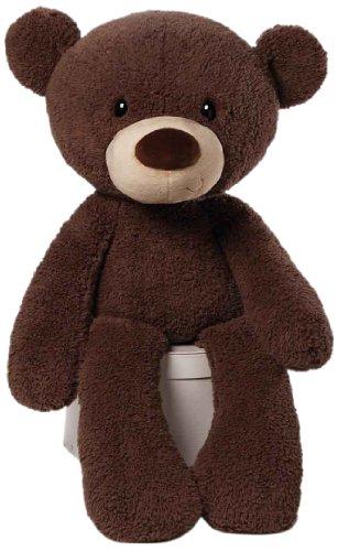 ガンド ぬいぐるみ リアル お世話 かわいい 【送料無料】GUND Fuzzy Teddy Bear Jumbo Stuffed Animal Plush, Chocolate Brown, 34