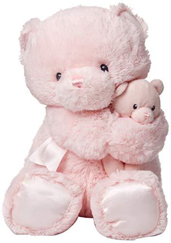 ガンド ぬいぐるみ リアル お世話 かわいい GUND Momma and Baby Teddy Bear Stuffed Animal Plush Rattle, ピンク, 11