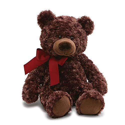 ガンド ぬいぐるみ リアル お世話 かわいい GUND Valentine's Day Hart Teddy Bear Stuffed Animal, Chocolate 褐色, 18