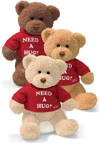 ガンド ぬいぐるみ リアル お世話 かわいい 【送料無料】Gund 112629 Toy-Plush Message Bear & Need A Hug44; 12 in.ガンド ぬいぐるみ リアル お世話 かわいい