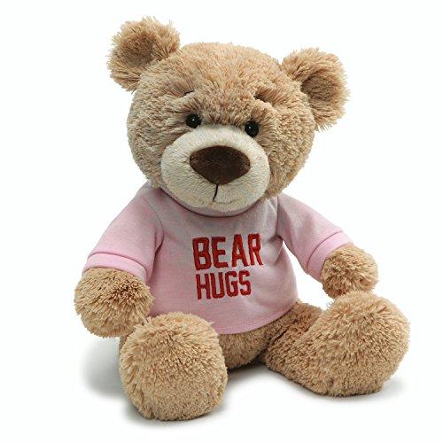 """ガンド ぬいぐるみ リアル お世話 かわいい Gund Valentine's Day Hugs T-Shirt Message Bear Plush Stuffed Animal, 7.5"""" , Pinkガンド ぬいぐるみ リアル お世話 かわいい"""