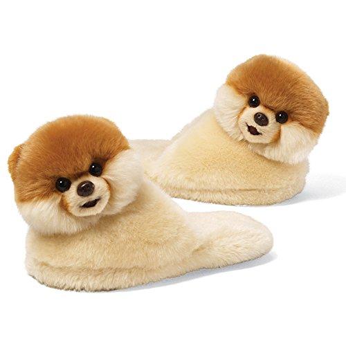 ガンド ぬいぐるみ リアル お世話 かわいい 【送料無料】Gund Boo The World's Cutest Dog Child Sized Slippers 9