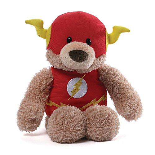 ガンド ぬいぐるみ リアル お世話 かわいい GUND DC Comics Flash Blaze Teddy Bear Stuffed Animal Plush, 赤, 12