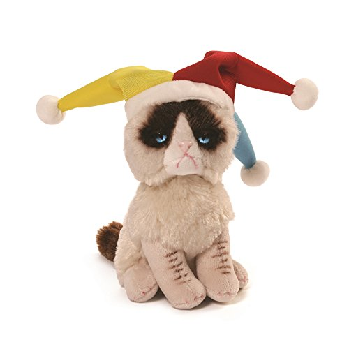ガンド ぬいぐるみ リアル お世話 かわいい 【送料無料】GUND Grumpy Cat Jester Beanbag Stuffed Animal Plush, 5