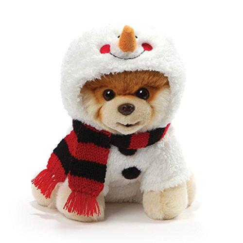 """ガンド ぬいぐるみ リアル お世話 かわいい GUND World's Cutest Dog Boo Holiday Snowman Costume Stuffed Animal Plush, 9""""ガンド ぬいぐるみ リアル お世話 かわいい"""