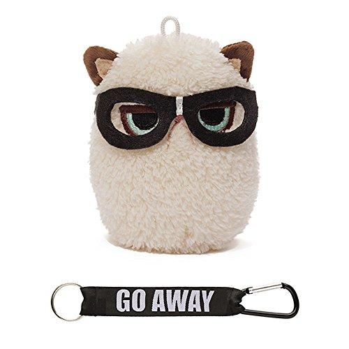ガンド ぬいぐるみ リアル お世話 かわいい 【送料無料】GUND Grumpy Cat Mini Plush with Glasses, 4