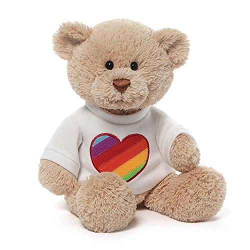 ガンド ぬいぐるみ リアル お世話 かわいい 【送料無料】Gund Rainbow Heart T-Shirt Bearガンド ぬいぐるみ リアル お世話 かわいい