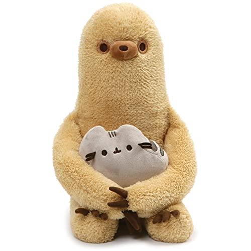 ガンド ぬいぐるみ リアル お世話 かわいい 【送料無料】GUND Pusheen with Sloth Plush Stuffed Animal, Set of 2, Multicolor, 13