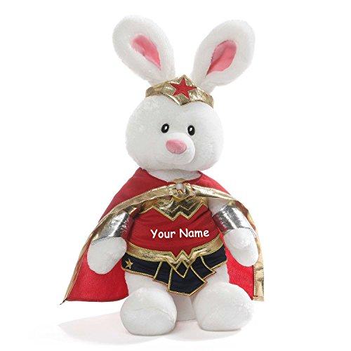 ガンド ぬいぐるみ リアル お世話 かわいい 【送料無料】GUND Personalized DC Comics Wonder Woman Bunny Plush Stuffed Animal Toy - 14 Inchesガンド ぬいぐるみ リアル お世話 かわいい