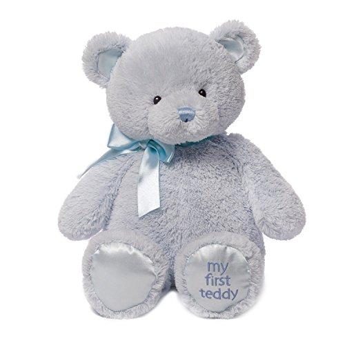 ガンド ぬいぐるみ リアル お世話 かわいい 【送料無料】Baby GUND My First Teddy Bear Stuffed Animal Plush, Blue, 18
