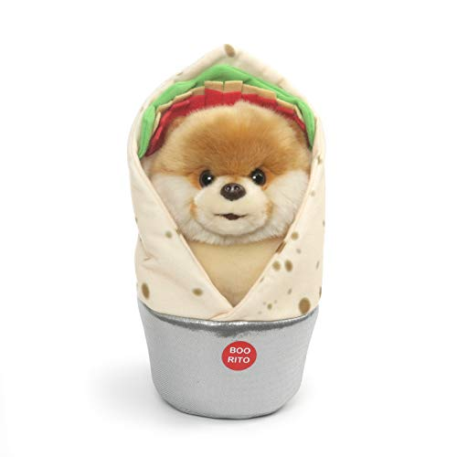 ガンド ぬいぐるみ リアル お世話 かわいい GUND Boo World's Cutest Dog Boo-Rrito Burrito Plush Stuffed Animal, Multicolor, 9