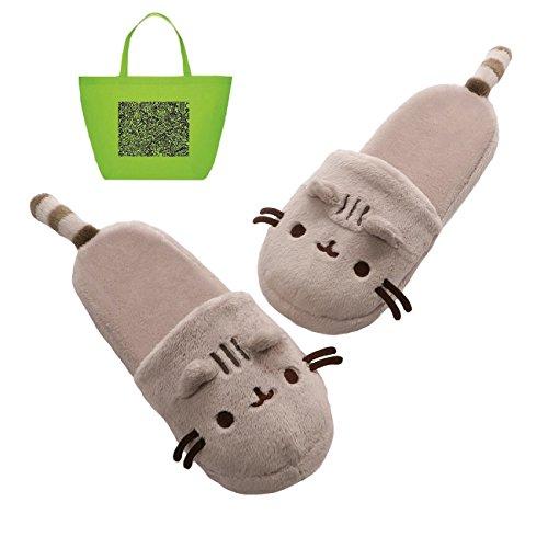 ガンド ぬいぐるみ リアル お世話 かわいい 【送料無料】GUND Pusheen Plush Slippers and Tote Multi-packガンド ぬいぐるみ リアル お世話 かわいい