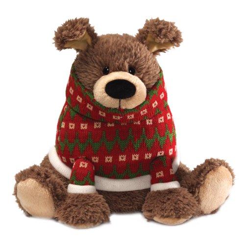 ガンド ぬいぐるみ リアル お世話 かわいい 【送料無料】GUND Fun Christmas Peppermint Bark Dog 10