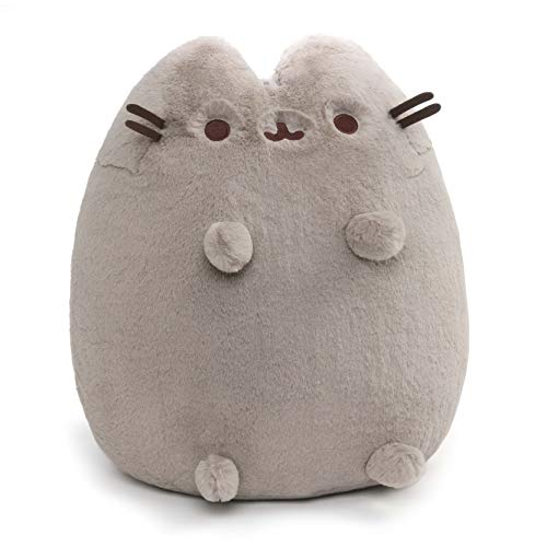 ガンド ぬいぐるみ リアル お世話 かわいい GUND Deluxe Pusheen Sitting Pose Plush Stuffed Animal Cat, グレー, 19
