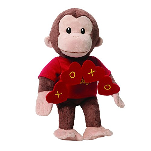 ガンド ぬいぐるみ リアル お世話 かわいい 【送料無料】GUND Curious George Valentine's Day Monkey Stuffed Animal Plush, 10