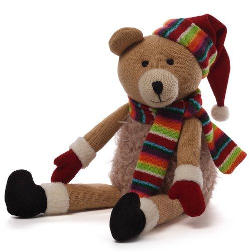 ガンド ぬいぐるみ リアル お世話 かわいい 【送料無料】GUND Christmas Knit Bear Plush, 7.5