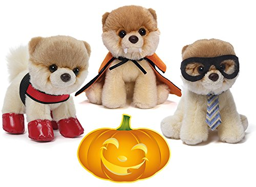 ガンド ぬいぐるみ リアル お世話 かわいい 【送料無料】GUND Itty Bitty Boo Halloween Special Set of 3 Dogs: #25 Rain Boots, #18 Vampire, #22 Nerdy Plush 5