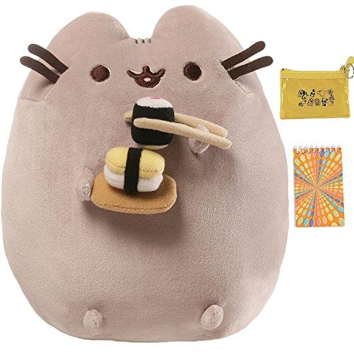 ガンド ぬいぐるみ リアル お世話 かわいい 【送料無料】GUND Pusheen & Sushi Plush Toy, Notepad & Coin Purse Multi-Packガンド ぬいぐるみ リアル お世話 かわいい