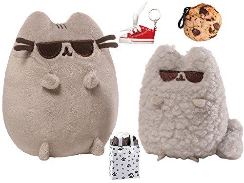 ガンド ぬいぐるみ リアル お世話 かわいい 【送料無料】GUND Pusheen & Stormy Sunglasses Collector Set, Cookie Clip, Keychain & Bag Multi-Packガンド ぬいぐるみ リアル お世話 かわいい