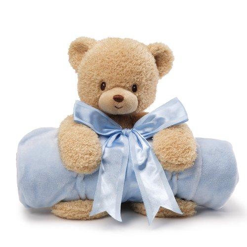 ガンド ぬいぐるみ リアル お世話 かわいい 【送料無料】Gund Baby Blanket Set, Teddi Bear & Blue (Discontinued by Manufacturer)ガンド ぬいぐるみ リアル お世話 かわいい