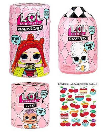 エルオーエルサプライズ 人形 ドール 【送料無料】L.O.L. Surprise!! #Hairgoals Makeover Series 5 Wave 2 Gift Bundle Stickersエルオーエルサプライズ 人形 ドール