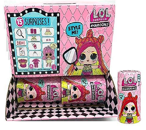 エルオーエルサプライズ 人形 ドール 【送料無料】L.O.L. Surprise! MGA #Hairgoals Series 5 Wave 2 Dolls - Full Set of 12 in Display Caseエルオーエルサプライズ 人形 ドール