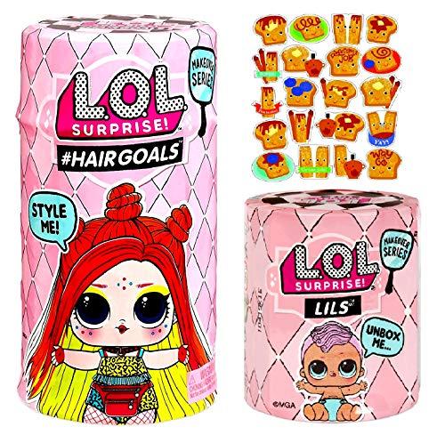 エルオーエルサプライズ 人形 ドール MGA LOL Surprise #Hairgoals and Lils Makeover Series 5 Wave 2 Bundle W/ Cinnamon Stickersエルオーエルサプライズ 人形 ドール