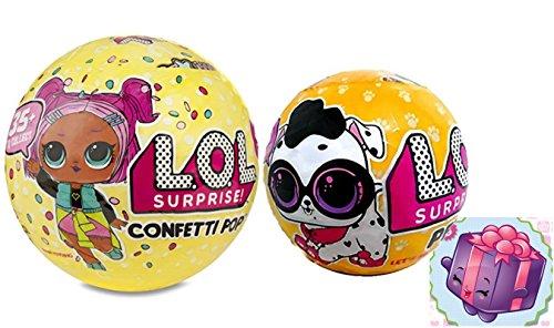 エルオーエルサプライズ 人形 ドール 【送料無料】L.O.L. Surprise! Confetti Pop Series 3 Wave 1 with LOL Surprise Pets Series 3 Wave 2 Unwrapping Toy Doll Bundle and Shopkins Gift Stickerエルオーエルサプライズ 人形 ドール