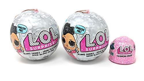 エルオーエルサプライズ 人形 ドール 【送料無料】LOL Surprise Bling Series (2 Pack) + Bonus (1) Fashion Crushエルオーエルサプライズ 人形 ドール