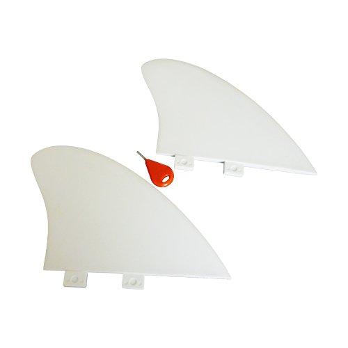 サーフィン フィン マリンスポーツ Funktion Nylon Flex Big Twin Fin Set FCS fin 2pcs per Set in White Colour FKGF-BT2サーフィン フィン マリンスポーツ