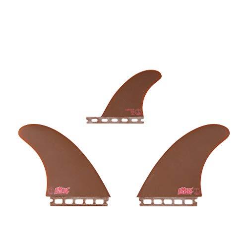 サーフィン フィン マリンスポーツ 【送料無料】Captain Fin Co. | Troy Elmore Twin Surfboard Fins | (Single TAB) 3 Fin Set | Brownサーフィン フィン マリンスポーツ