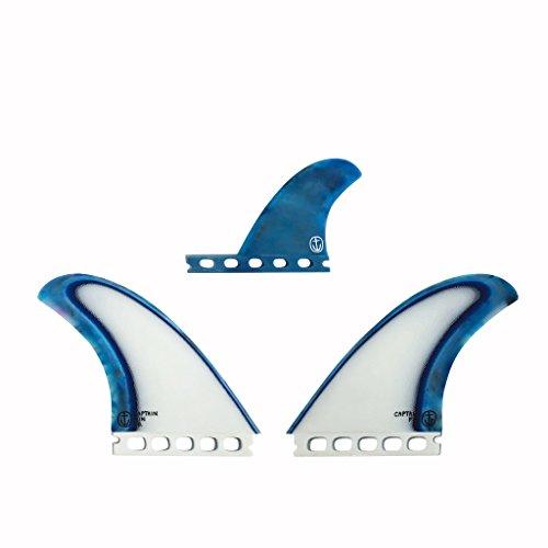 サーフィン フィン マリンスポーツ 【送料無料】Captain Fin Co. CF-Twin Acid Splash Surfboard Fins - 2 Fin Set - Single Tab - Blueサーフィン フィン マリンスポーツ