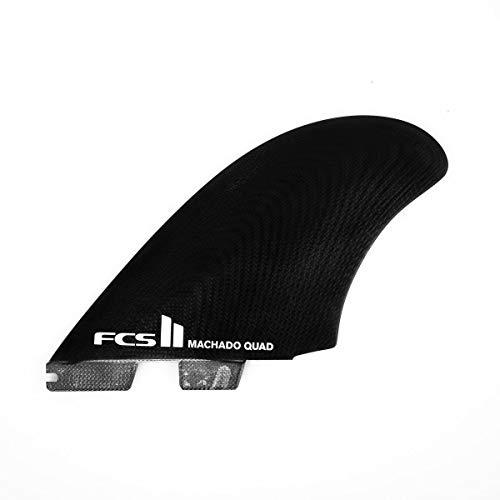 サーフィン フィン マリンスポーツ 【送料無料】FCS II Machado Quad Fin Set - Blackサーフィン フィン マリンスポーツ