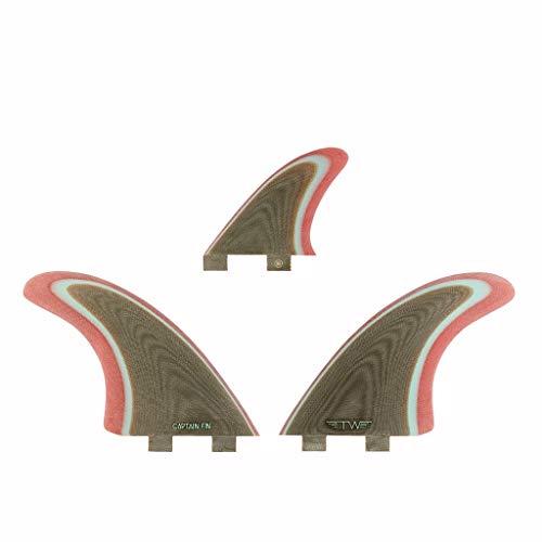 サーフィン フィン マリンスポーツ 【送料無料】Captain Fin Co. | Tyler Warren Twin Especial Surfboard Fins | (Twin TAB) Three Fin Set | Coffeeサーフィン フィン マリンスポーツ