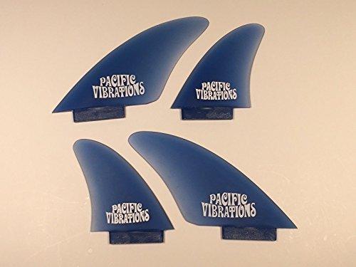 サーフィン フィン マリンスポーツ 【送料無料】PACIFIC VIBRATIONS LokBox lok Box Controller Fins Surfboard 4 Quad fin Set Fiberglassサーフィン フィン マリンスポーツ