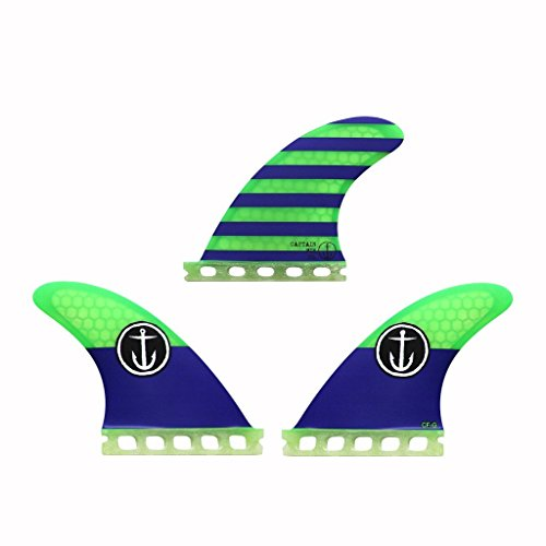 サーフィン フィン マリンスポーツ 【送料無料】Captain Fin Co Grom Surf Fins Single Tab Blue 3サーフィン フィン マリンスポーツ