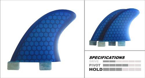 サーフィン フィン マリンスポーツ 【送料無料】Culprit Surf Surfboard Fins - Blue Honeycomb Side Bite Surf Fins - FCS GL Styleサーフィン フィン マリンスポーツ