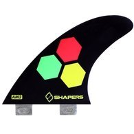 サーフィン フィン マリンスポーツ 【送料無料】SHAPERS FINS FCS CORE LITE AM3 BLACK THRUSTERサーフィン フィン マリンスポーツ