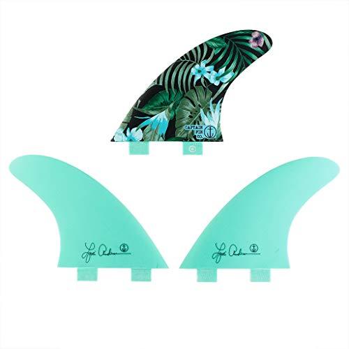 サーフィン フィン マリンスポーツ 【送料無料】Captain Fin Co. Lisa Andersen Jungle Surfboard Fins - Twin Tab - 3 Fin Set - Sea Foam Greenサーフィン フィン マリンスポーツ