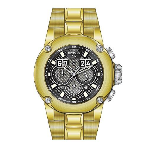 インヴィクタ インビクタ 腕時計 メンズ 【送料無料】25295 - INVICTA S1 Rally Men 52mm Stainless Steel Black + Stainless Steel Black dial VD53 Quartzインヴィクタ インビクタ 腕時計 メンズ