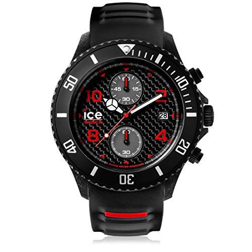 アイスウォッチ 腕時計 メンズ かわいい 【送料無料】Ice-Watch - ICE Carbon Black White - Men's Wristwatch with Silicon Strap - Chrono - 001316 (Extra Large)アイスウォッチ 腕時計 メンズ かわいい