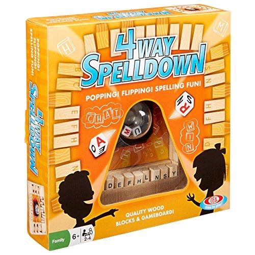 ボードゲーム 英語 アメリカ 海外ゲーム 【送料無料】Ideal Kids 4-Way Spelldown Family Board Gameボードゲーム 英語 アメリカ 海外ゲーム
