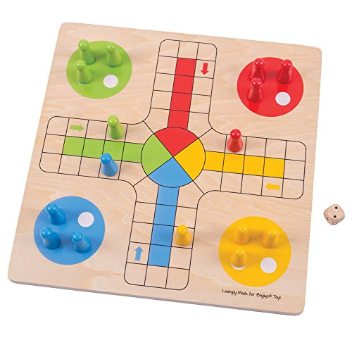 ボードゲーム 英語 アメリカ 海外ゲーム 【送料無料】Bigjigs Toys Traditional Ludo Game, Multicoloredボードゲーム 英語 アメリカ 海外ゲーム