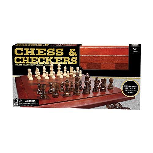 ボードゲーム 英語 アメリカ 海外ゲーム Cardinal Chess & Checkers Set with Wooden Boardボードゲーム 英語 アメリカ 海外ゲーム