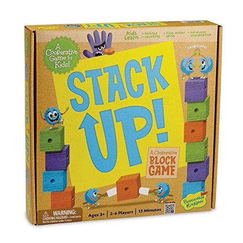 ボードゲーム 英語 アメリカ 海外ゲーム Peaceable Kingdom Stack Up! Award Winning Preschool Skills Builder Game for Kidsボードゲーム 英語 アメリカ 海外ゲーム
