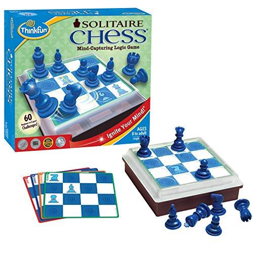 ボードゲーム 英語 アメリカ 海外ゲーム ThinkFun Solitaire Chess - Fun Version of Chess You Can Play Alone, Toy of the Year Nominee for Age 8 and Upボードゲーム 英語 アメリカ 海外ゲーム